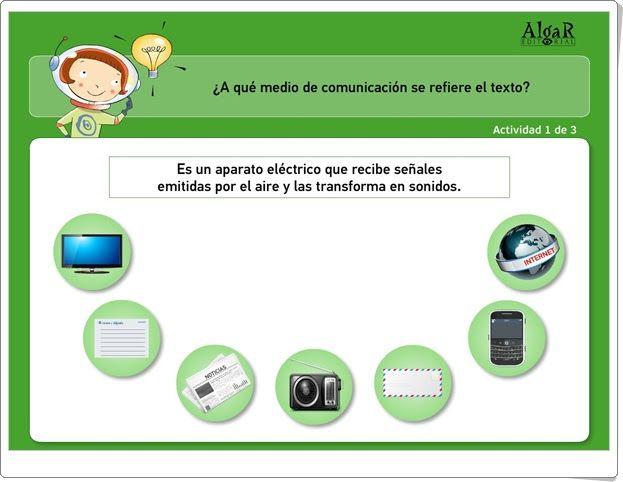 Medios de comunicación (Juego de Lengua Española de Primaria)