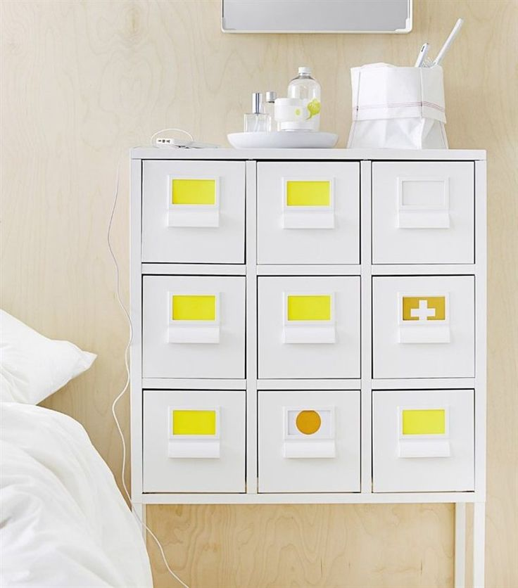 Labelled drawers making finding and storing essentials much simpler. See the new SPRUTT range in live from IKEA FAMILY.
