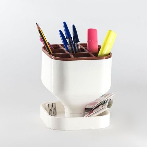 oPen: Desktop pen holder STL model, EUMAKERS