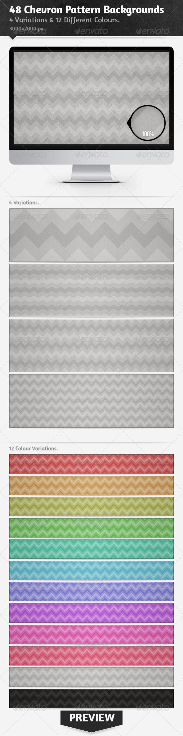 48 Chevron Pattern Backgrounds