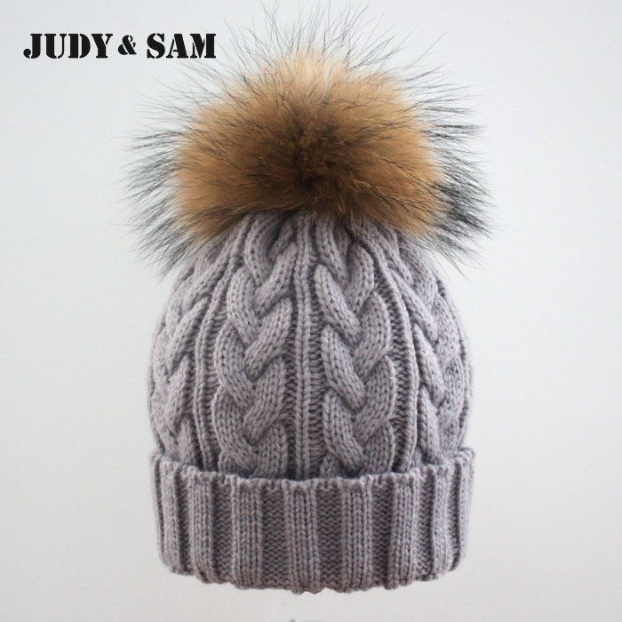 Winter Colorful Snow Caps Wool Knitted Beanie Hat With Raccoon Women Men $18.10   => Save up to 60% and Free Shipping => Order Now! #fashion #woman #shop #diy  http://www.scarfonline.net/product/2015-winter-brand-new-colorful-snow-caps-wool-knitted-beanie-hat-with-raccoon-fur-pom-poms-for-women-men-hip-hop-skullies-cap/