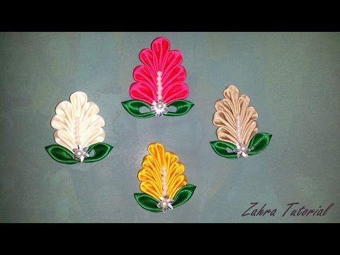 Kerajinan Tangan Bros Cantik Bunga Kanzashi - YouTube