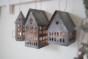 Galvanized Christmas houses