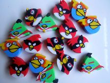 10pcs/Set angry bird mini eraser eraser stationery kids gift party claims
