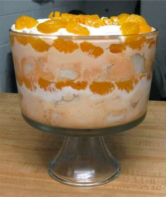 Mandarin Orange Angel Food Cake Recipe