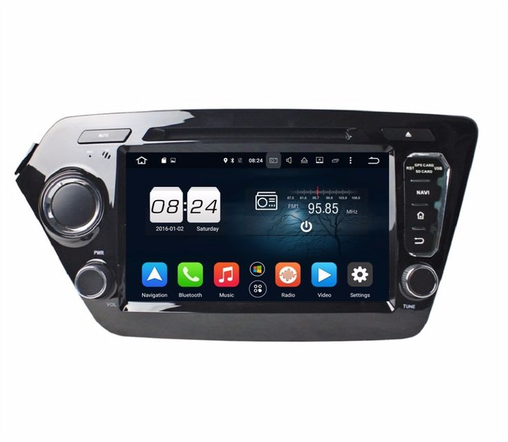 "1024*600 Octa Core 2 din 8"" Android 6.0 Car Radio DVD GPS for Kia K2 Rio 2011 2012 With USB 2GB RAM Bluetooth WIFI 32GB ROM"