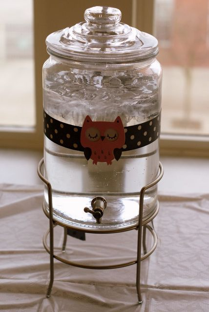 cute décor on the drink dispenser