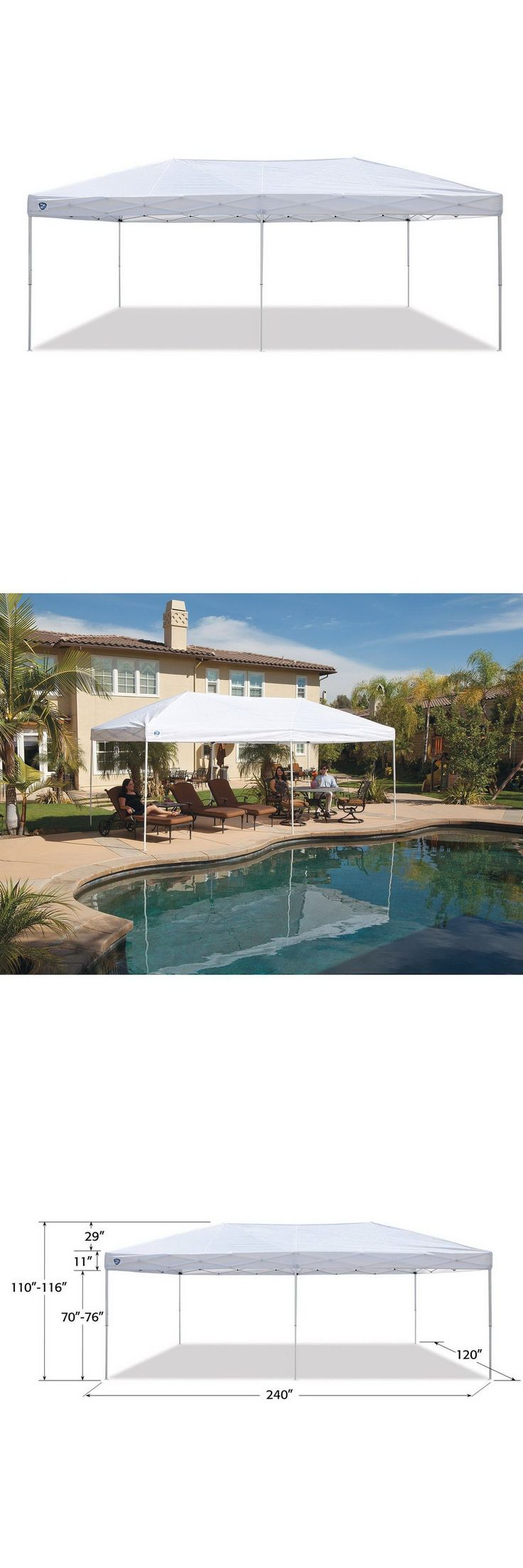Canopies and Shelters 179011: 10 X 20 Pop Up Instant Canopy Shade Shelter Z-Shade Event Party Vendor Tent -> BUY IT NOW ONLY: $239.89 on eBay!