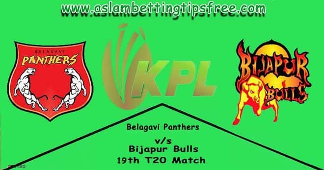 Get Belagavi Panthers vs Bijapur Bulls Cricket Betting Tips and Today Match Prediction at http://www.aslambettingtipsfree.com/belagavi-panthers-vs-bijapur-bulls-betting-tips/