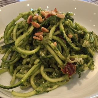 Chicken & Zucchini Pasta Salad with Avocado Pesto