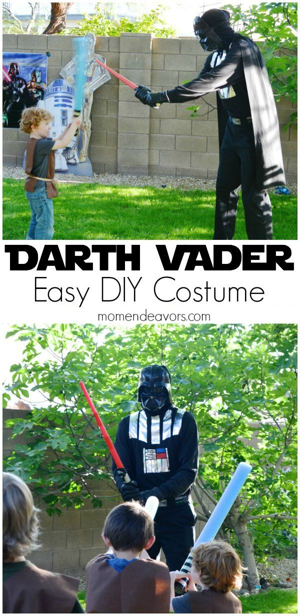 An easy DIY Darth Vader costume - full costume & runDisney costume version shown, along with links to other DIY Star Wars costumes!
