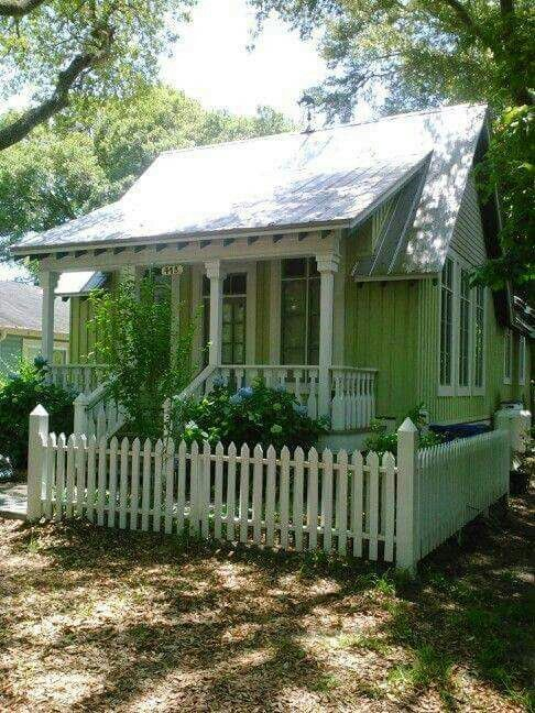 Small green cottage