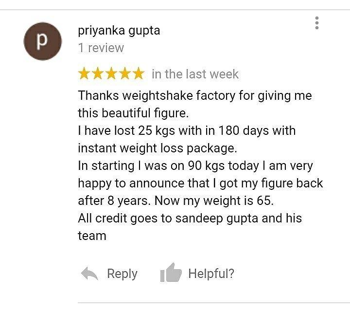 Priyanka Gupta lost 25 Kgs in 180 days by following the Instant Weight Loss Diet Plan.  https://www.instagram.com/p/BcJ8tScDP4j/