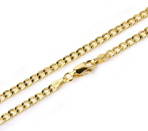 solid gold pin chains bracelet mens mariner yellow link inch