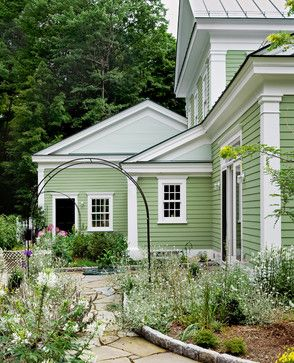 """""""Kermit Love House"""" Love the siding color of this home."""