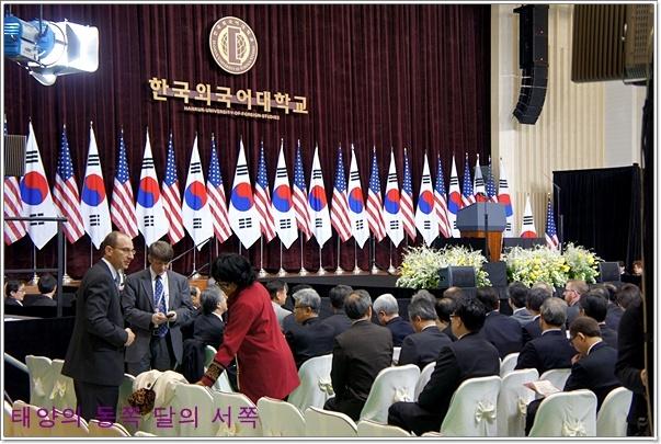 오바마 대통령 외대강연장 사진