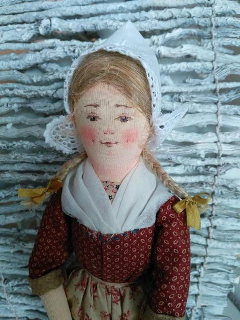 Art doll. Author's textile interior doll in Dutch costume