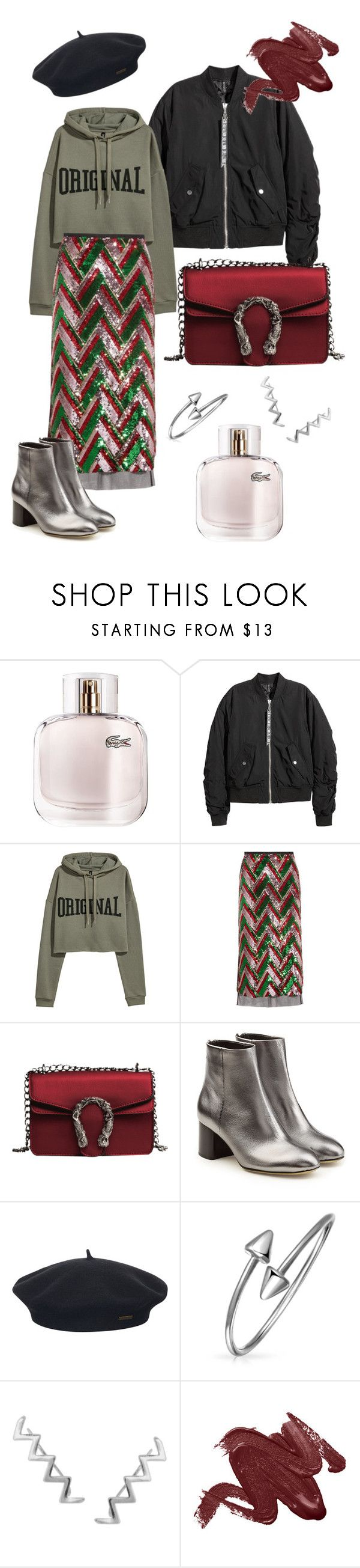 """Hoodie Accent"" by olga-litvin ❤ liked on Polyvore featuring Lacoste, Gucci, rag & bone, Element, Bling Jewelry and Humble Chic"