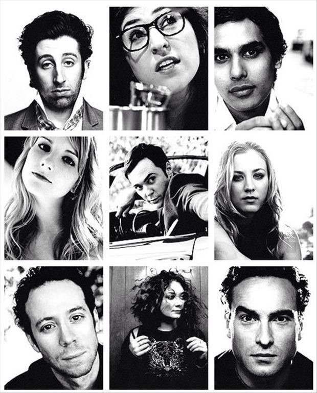 The Big Bang Theory's cast looking pretty gorgeous.