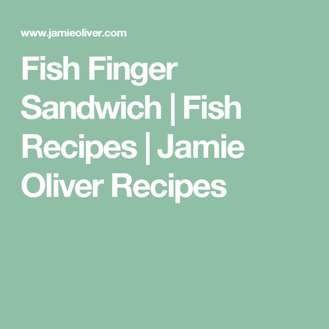 Fish Finger Sandwich | Fish Recipes | Jamie Oliver Recipes