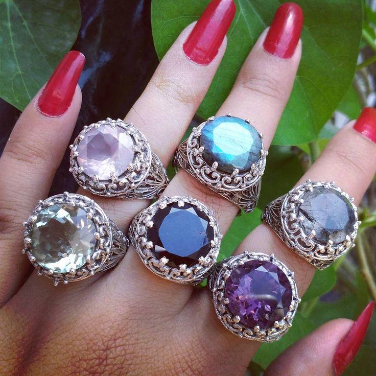 #cutgemstonerings #handmade #sterlingsilver #rings #jewellery