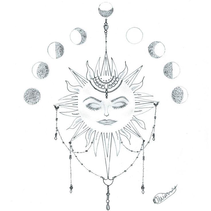 Sun Flower Tattoo Design