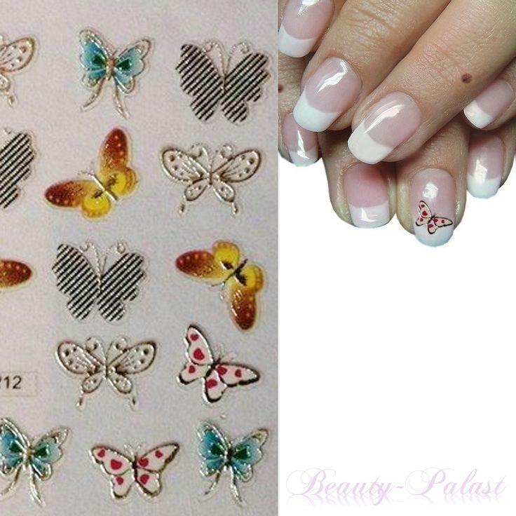 #nailart Nagelsticker Schmetterling www.beauty-palast.net und http://stores.ebay.de/Beauty-Palast