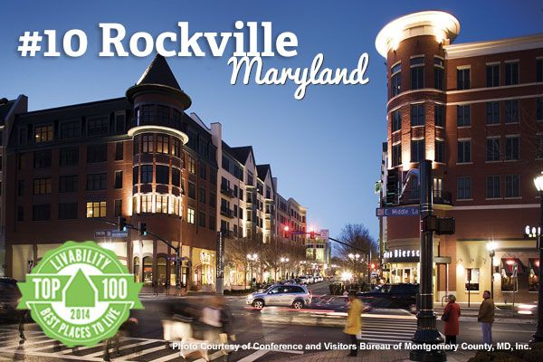 Kudos to you, Rockville, Maryland! Ranked #10 on Livability.com's Top 100 Best Places to Live