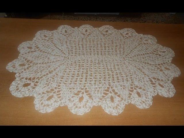 Tapete de crochê oval em barbante mesclado parte 4 - crochet rug - alfombra de…