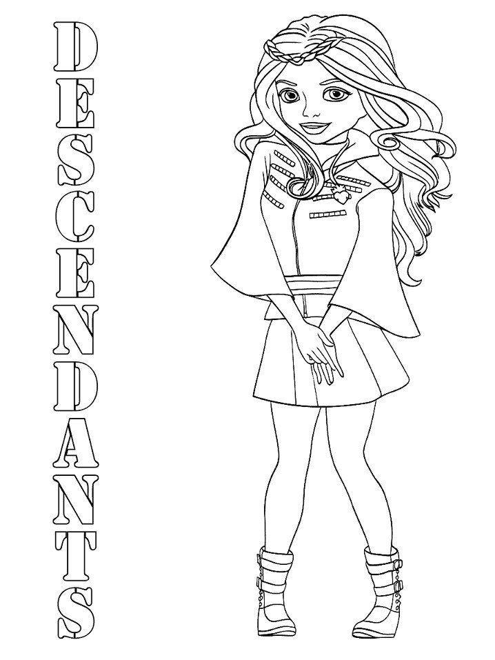 Descendants 2 Coloring Pages Uma Printable Descendants Coloring Pages Coloring Pages Disney Descendants