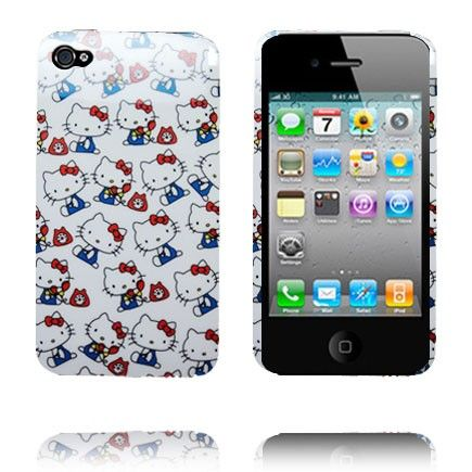 Hello Kitty (Telephoning Kitties) iPhone 4S Deksel