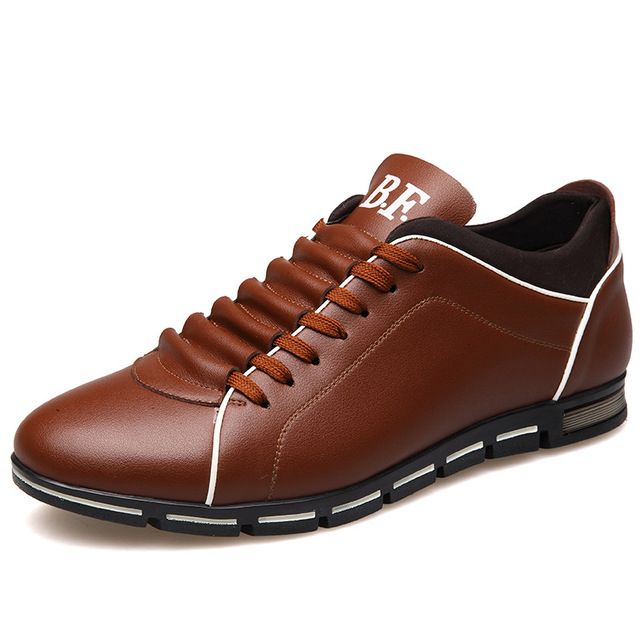 Limited Offer $19.90, Buy Plus size 37-48 Brand Men Shoes England Trend Casual Leisure Shoes Leather Shoes Breathable For Male Footear Loafers Men's Flats