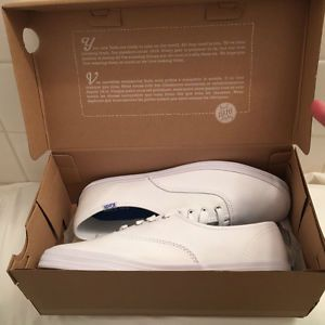 White Canvas Keds Tennis Shoes NEW IN BOX Ladies Size 6 5 M Champion | eBay