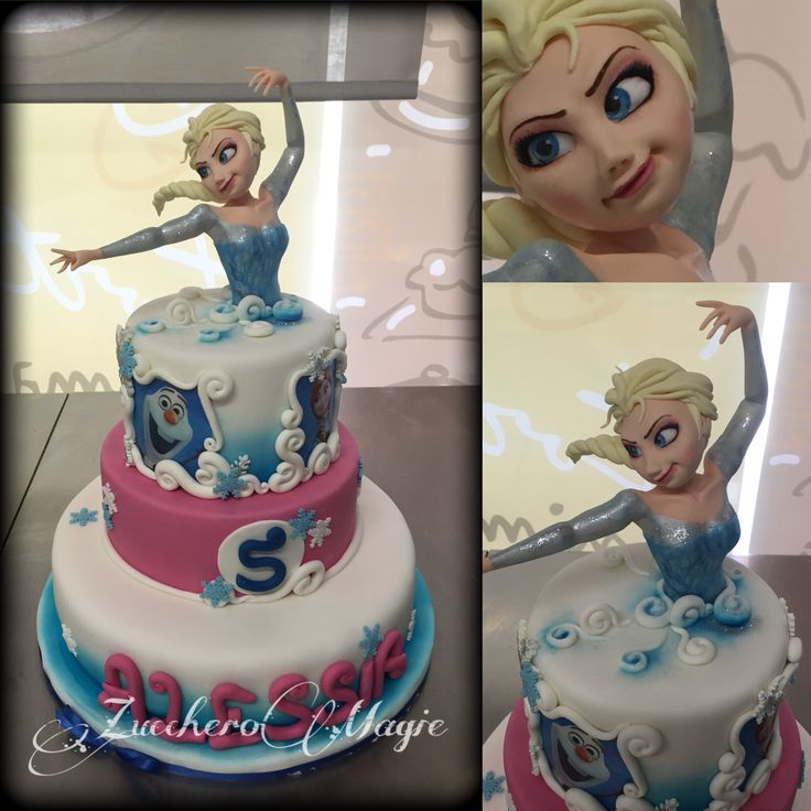 Frozen cake... Elsa and Anna