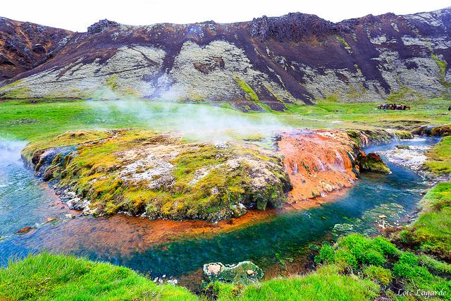 This is Hveragerdi Hot Spring in Iceland. Not sure if you actually get in or not but, it's still pretty cool.
