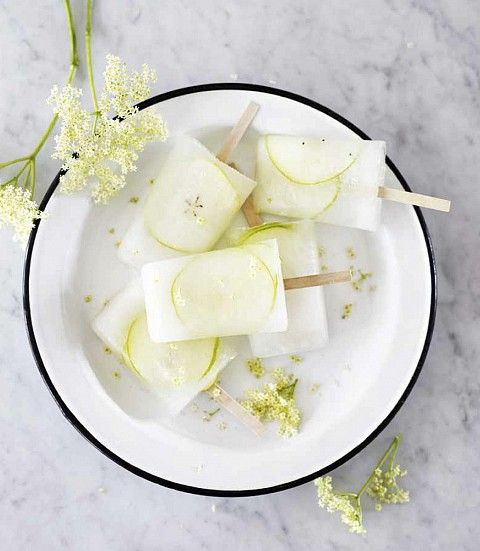 Elderflower and Pear Popsicles