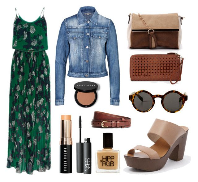 """Outfit Inspiration: Nina Proudman"" by styletread ❤ liked on Polyvore featuring Citizens of Humanity, Jendi, Mollini, Sole Society, Monki, Bobbi Brown Cosmetics, NARS Cosmetics, Brooks Brothers, Heels and shoes"
