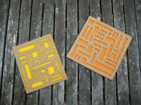 crafty ideas modern coasters. DIY Felt Coasters  Mod Cork and Coaster Set 129 best images on Pinterest coasters