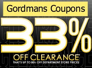 Gordmans Coupons: 33% Off Clearance Items
