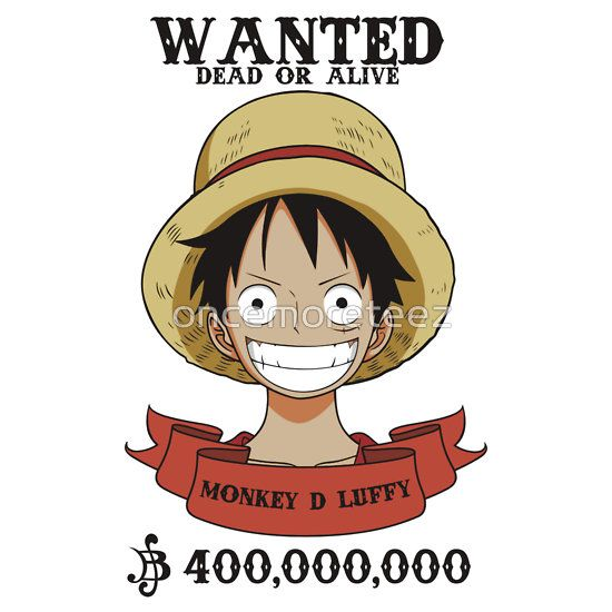 Luffy Wanted Dead or Alive, One Piece Anime