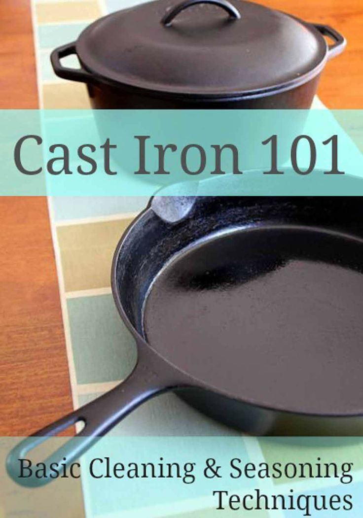 Useful tips on how to care for your cast iron skillets.