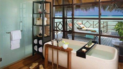 Maldives Accommodation | Sunrise Water Bungalow with Pool | Four Seasons Resort Maldives At Kuda Huraa