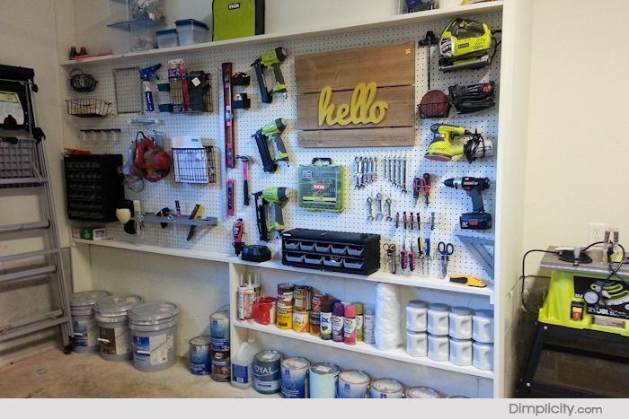 Garage Tool Organization Pegboard