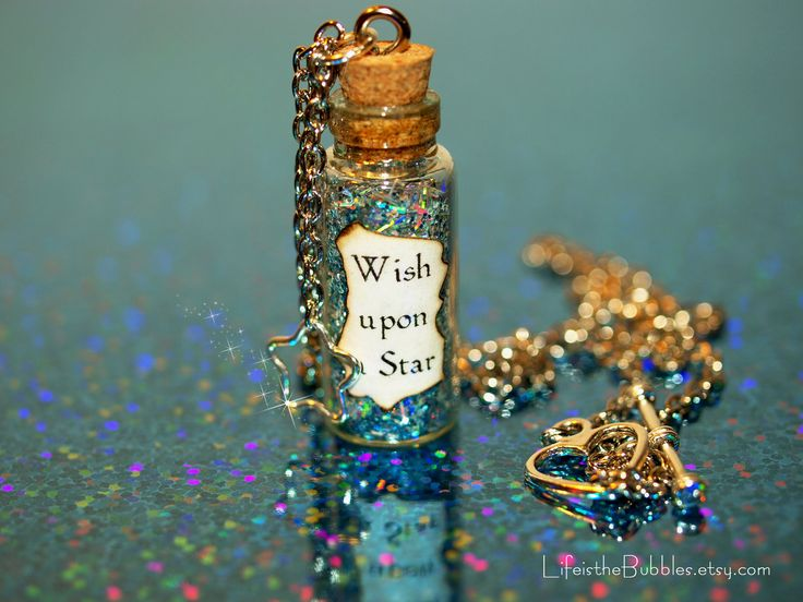 Blue Fairy When You Wish Upon a Star Bottle of Magic Necklace and Star Charm Pinocchio. $15.00, via Etsy.
