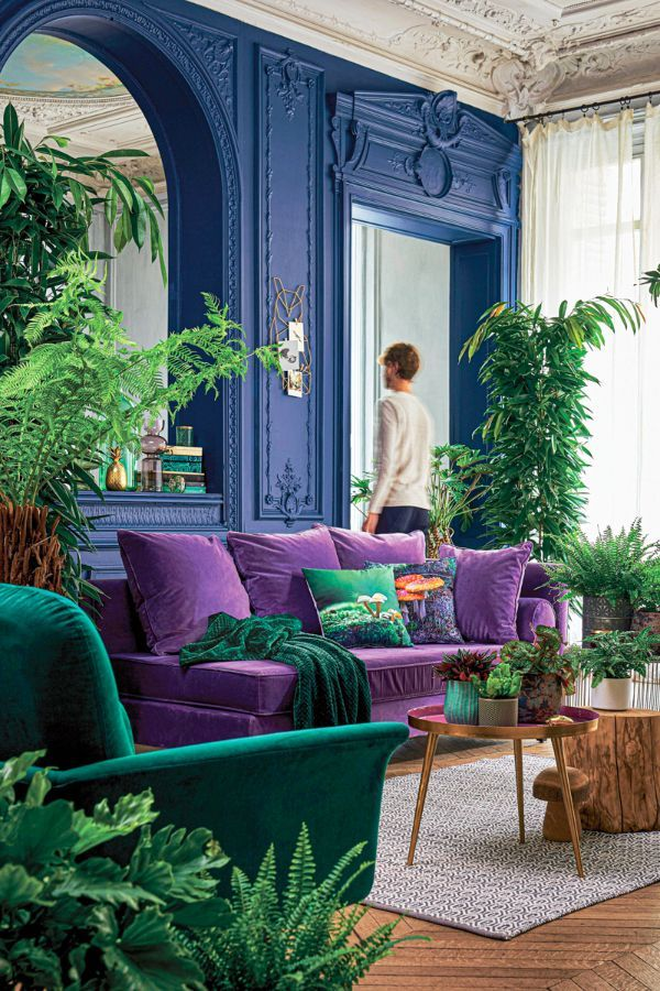 Colorful And Purple Living Room Design Ideas In This Year Page 4 Of 39 Evelyn S World My Dreams My Colors And My Life House Interior Living Room Decor Blue Living Room
