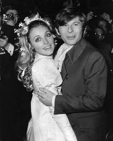 American film actress Sharon Tate (1943 - 1969) at her London wedding with Polish actor and director Roman Polanski. Description from gettyimages.com. I searched for this on bing.com/images