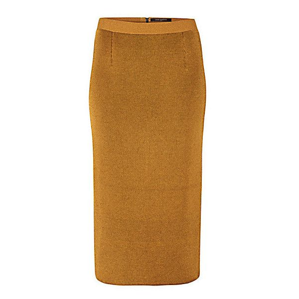 WOOL AND LUREX LONG SKIRT (€810) ❤ liked on Polyvore featuring skirts, floor length skirt, long fitted skirts, brown maxi skirt, mid calf skirts and brown skirt