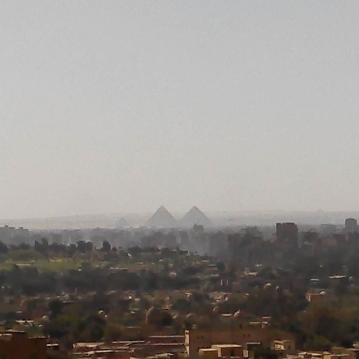 The #pyramid of #giza visible from almuqattam #cairo #egypt