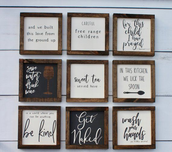 Mini Farmhouse Bathroom Signs Wall Decor Farmhouse Bathroom