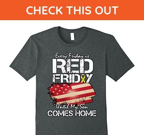 Mens Deployed Son Red Friday shirt Large Dark Heather - Relatives and family shirts (*Amazon Partner-Link)